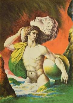 Mythology - Original Lithograph by Carlo Maria Mariani - 1986