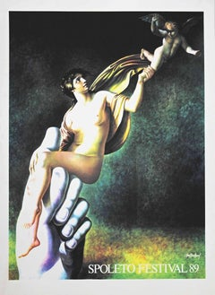 Spoleto Festival - Original Offset and Lithograph by Carlo Maria Mariani - 1989