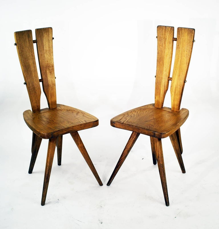 Machine-Made Pair of Side Chairs in the Manner of the Carlo Mollino Casa del Sole Chairs For Sale