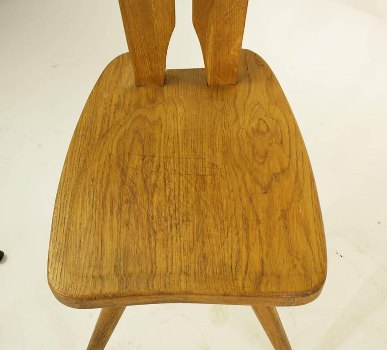 Mid-20th Century Pair of Side Chairs in the Manner of the Carlo Mollino Casa del Sole Chairs For Sale