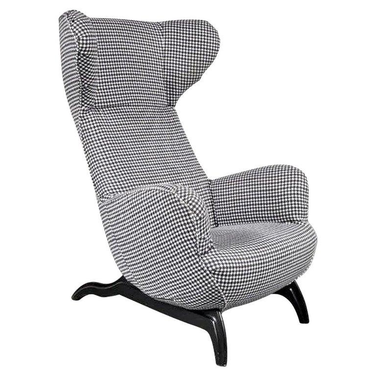 """Carlo Mollino """"Ardea"""" Chair for Zanotta, Italy, 1980 For Sale"""