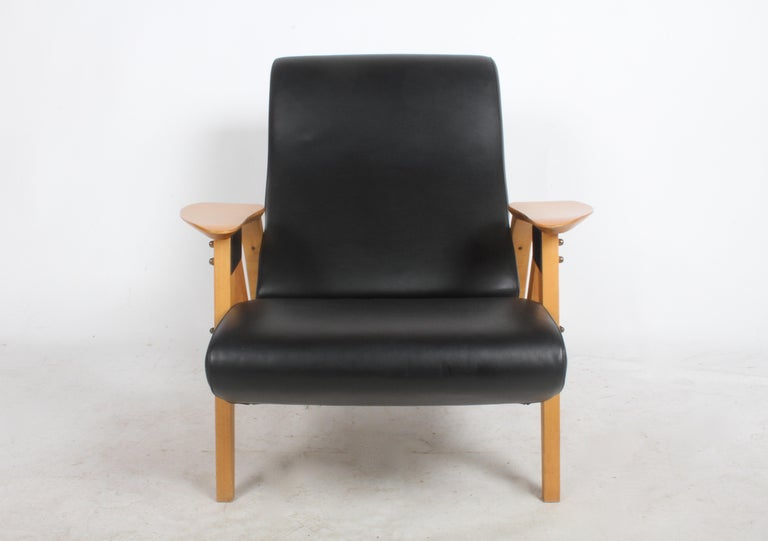 Italian Carlo Mollino Gilda Lounge Chair by Zanotto Italy For Sale