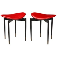 Carlo Mollino Pair of Stools