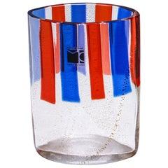 Carlo Moretti Murano Aventurine Glass Vase