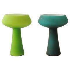 Carlo Moretti Pair of Murano Glass Vases, Italy, 1960s