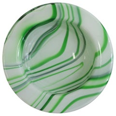 Carlo Moretti Wave Murano Glass Ashtray, Italy, 1970s