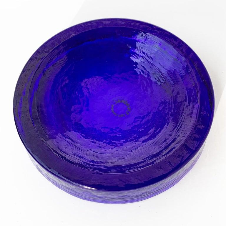 Mid-Century Modern Carlo Nason Blue Murano Glass