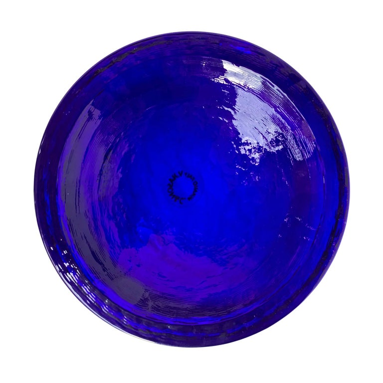 Carlo Nason Blue Murano Glass