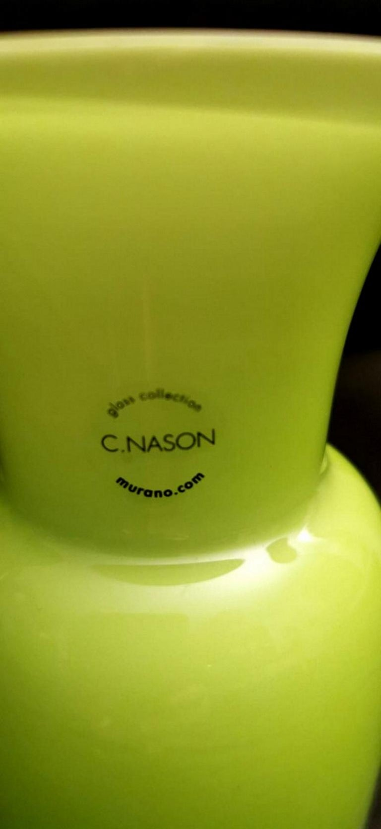 20th Century Carlo Nason Design Vase Blown and Jacketed Murano Glass