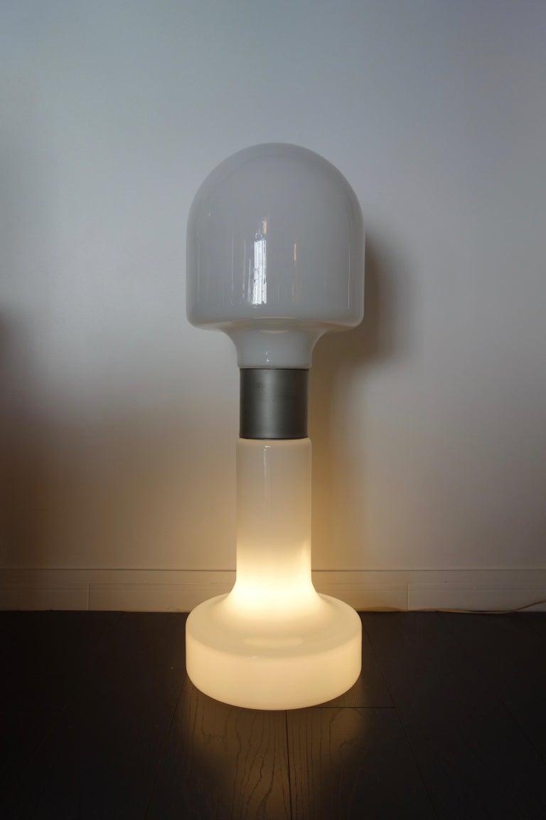 Mid-Century Modern Carlo Nason Floor Lamp by Mazzega Italy Murano, 1970s For Sale