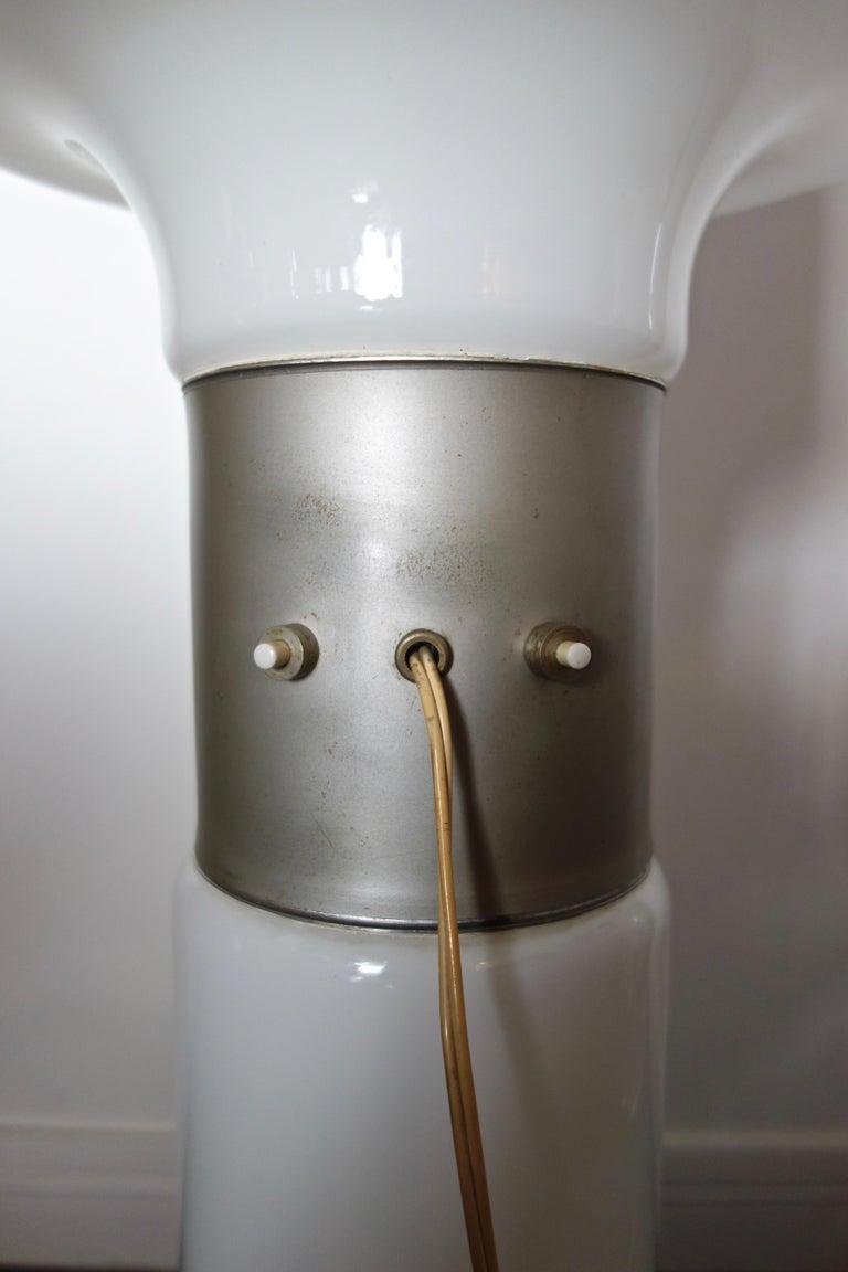 Late 20th Century Carlo Nason Floor Lamp by Mazzega Italy Murano, 1970s For Sale