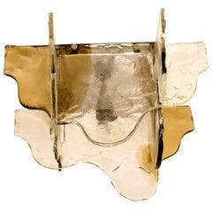 Carlo Nason Flushmount Murano Glass Light by Mazzega, Italy, 1960