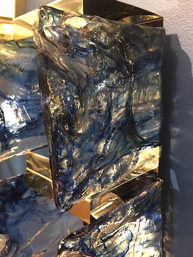 Carlo Nason for Mazzega 1970s Glass Sconces For Sale 3