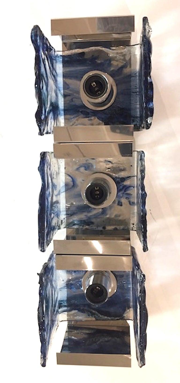 Mid-Century Modern Carlo Nason for Mazzega 1970s Glass Sconces For Sale