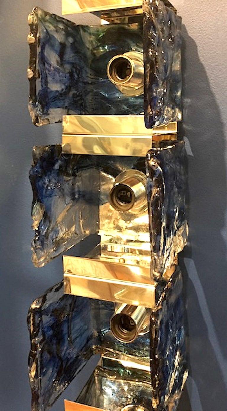 Carlo Nason for Mazzega 1970s Glass Sconces For Sale 1