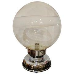 Carlo Nason Handblown Murano Glass Sphere Table Lamp for Mazzega, Italy 1960s