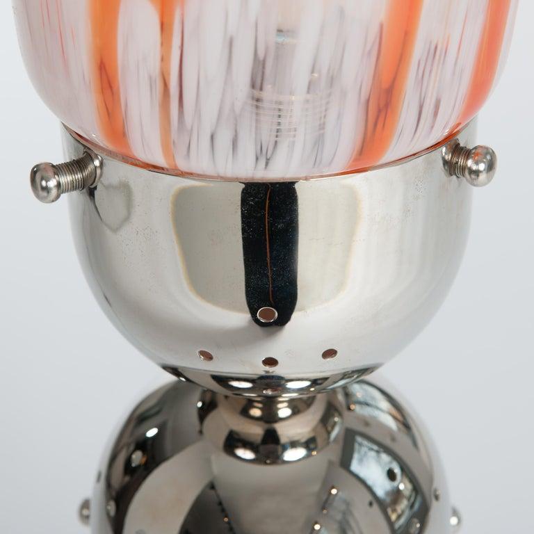 Carlo Nason Lipstick Orange, Red, White Floor Lamp by Mazzega, 1960s 6