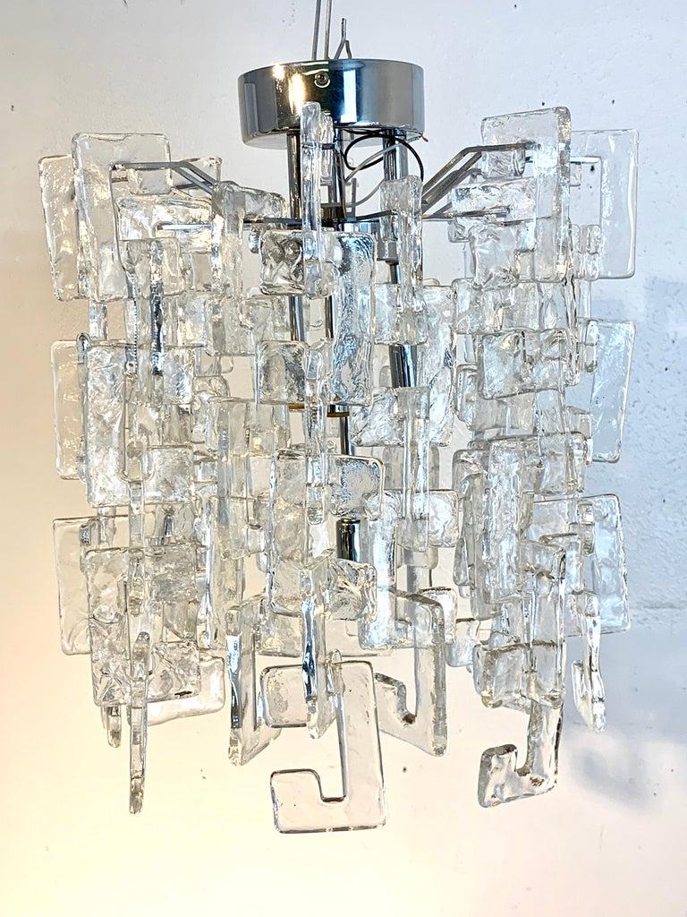 Mid-Century Modern Carlo Nason Mazzega Murano Glass Chandelier For Sale