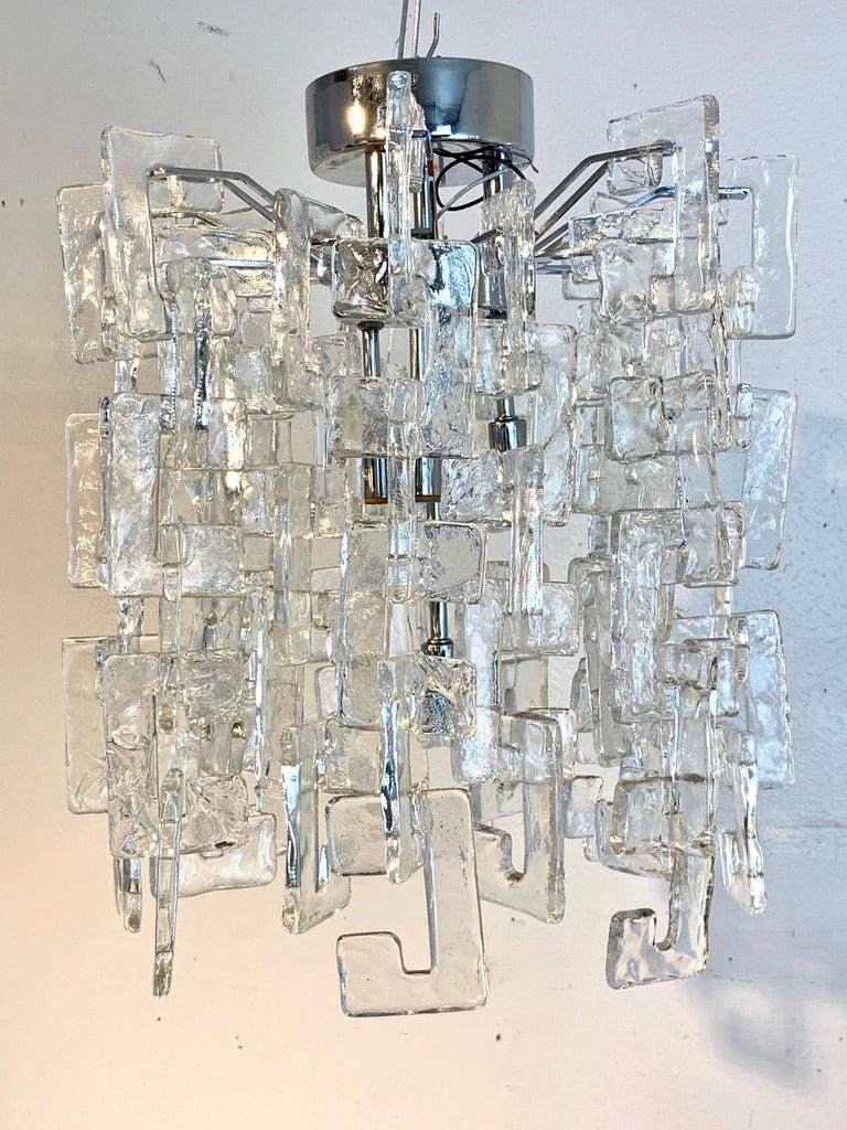 Italian Carlo Nason Mazzega Murano Glass Chandelier For Sale
