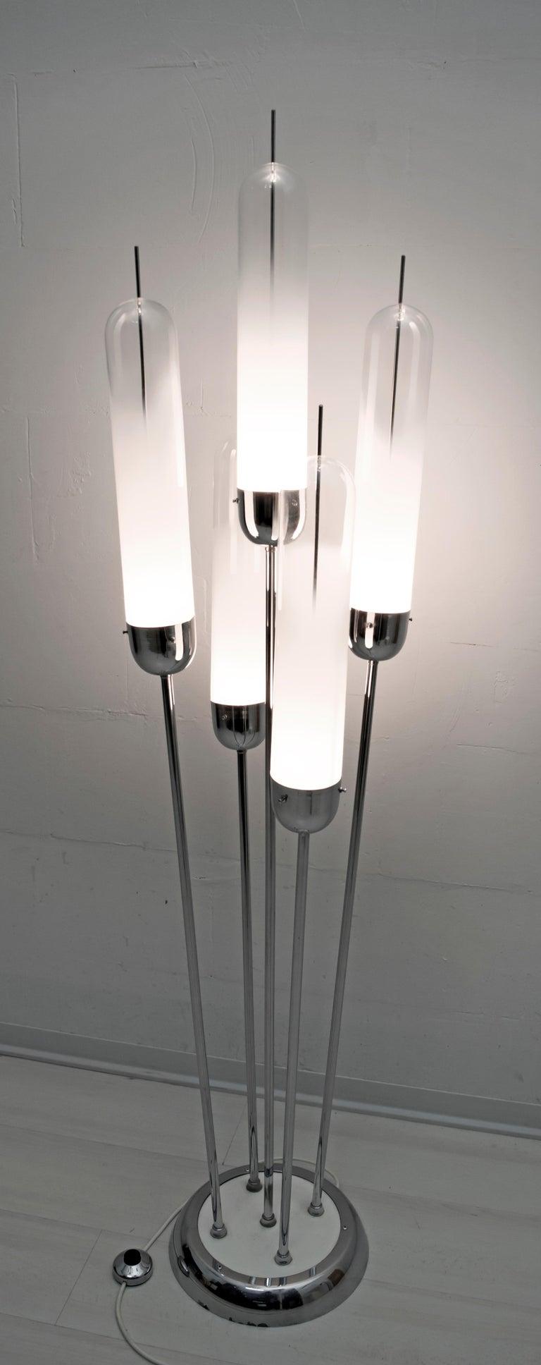 Carlo Nason Mid-Century Modern Floor Lamp Blown Glass for Mazzega, 1970s In Good Condition For Sale In Cerignola, Italy Puglia