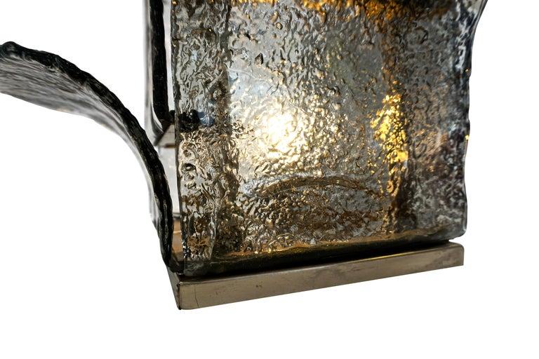 Carlo Nason Model LT320 Floor Lamp for Mazzega In Good Condition For Sale In North Miami, FL
