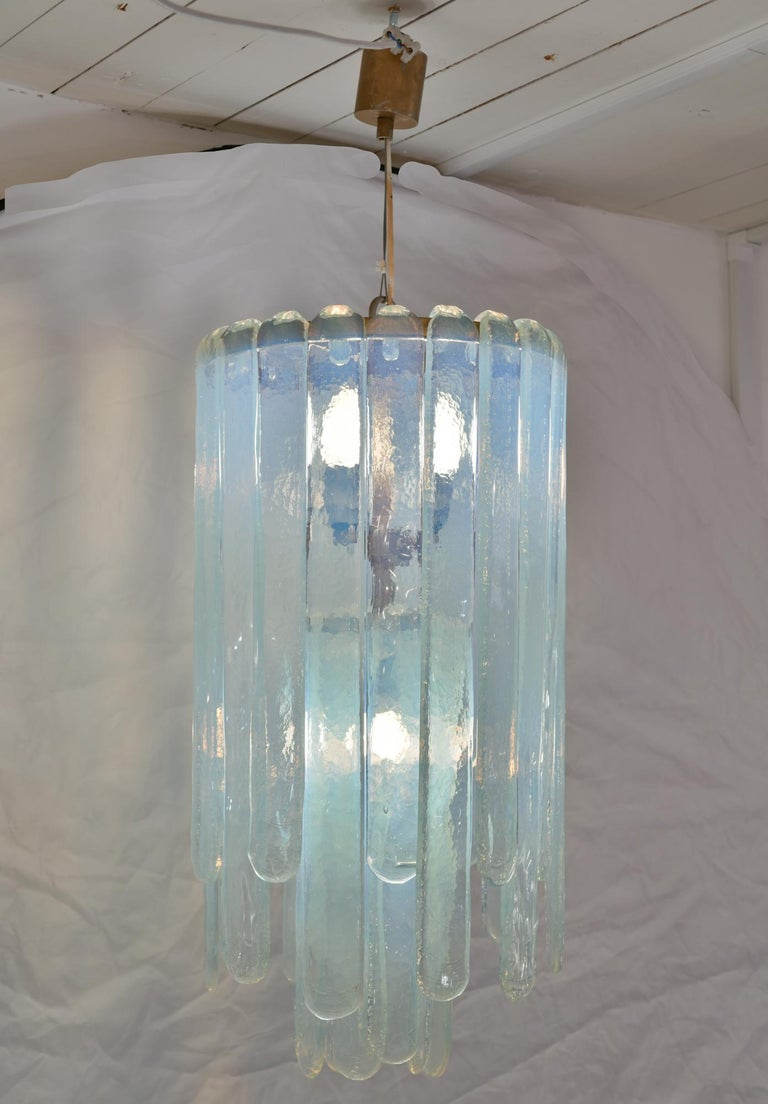 Lovely quality original Carlo Nason waterfall chandelier for Mazzega. Made in 1960s Italy. 