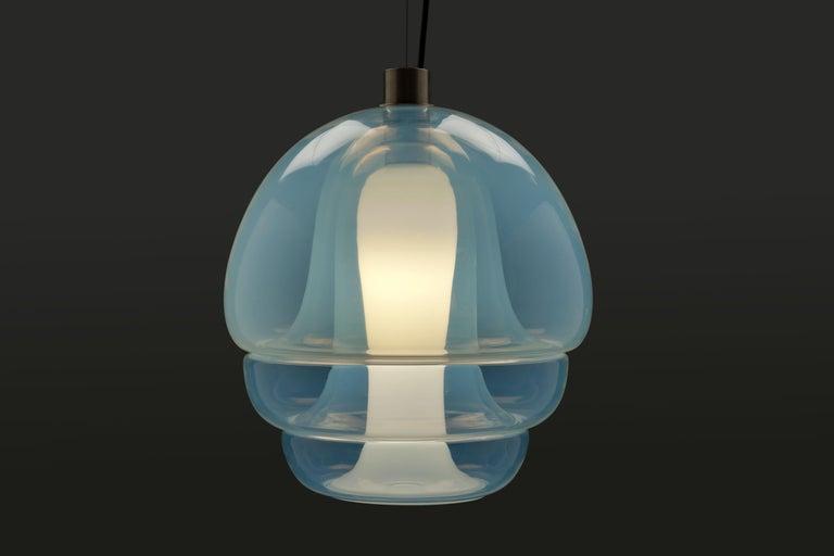 Carlo Nason Opalescent Glass Pendant by Mazzega, Murano For Sale 4