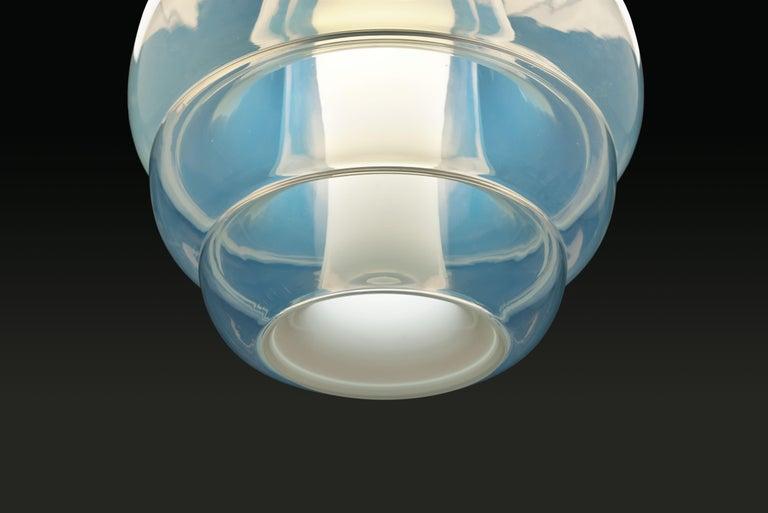 Mid-20th Century Carlo Nason Opalescent Glass Pendant by Mazzega, Murano For Sale