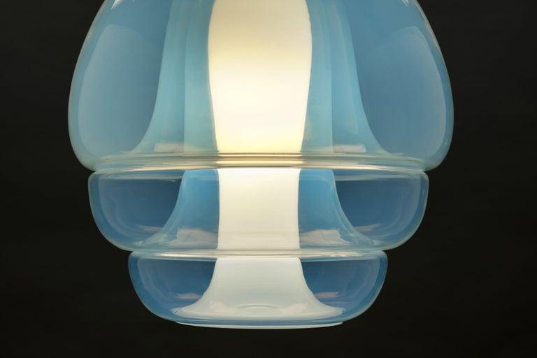 Carlo Nason Opalescent Glass Pendant by Mazzega, Murano For Sale 1