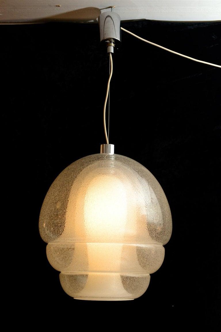 Mid-Century Modern Carlo Nason Pendant in Pulegoso Glass For Sale