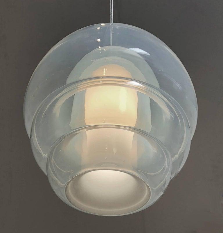 Space Age Carlo Nason Pendent Light for Mazzega For Sale