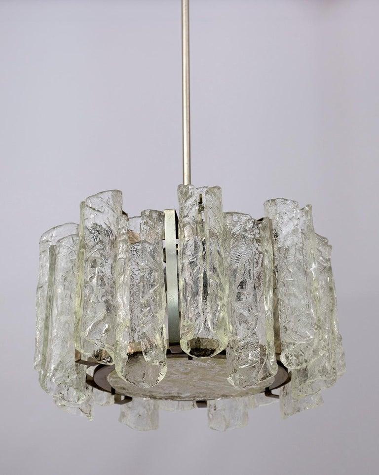 Post-Modern Carlo Nason Postmodern Italian Murano Glass Chandelier for Mazzega, 1970s For Sale