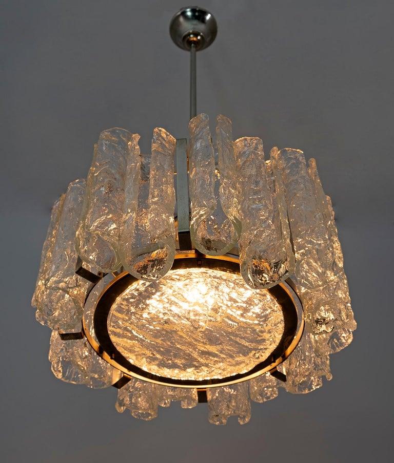 Late 20th Century Carlo Nason Postmodern Italian Murano Glass Chandelier for Mazzega, 1970s For Sale