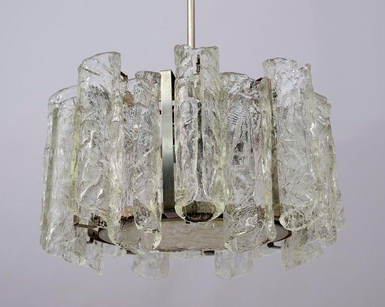 Carlo Nason Postmodern Italian Murano Glass Chandelier for Mazzega, 1970s For Sale 3