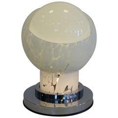 Carlo Nason Space Age Blown Murano Glass Italian Table Lamp for Mazzega, 1960s