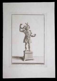 Ancient Roman Statue - Original Etching by C. Nolli - 18th century