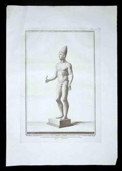 Ancient Roman Statue - Original Etching by Carlo Nolli - 1700s