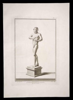 Ancient Roman Statue - Original Etching by Carlo Nolli - 18th Century
