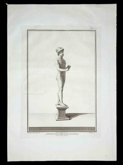 Ancient Roman Statues - Original Etching by Carlo Nolli - 1700s
