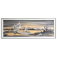 Carlo of Hollywood Arizona Desert Midcentury Painting