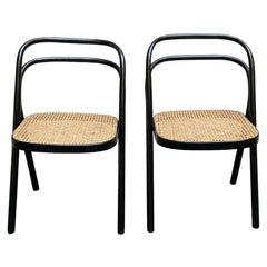 "Carlo Santi for Zanotta Pair of ""Santina"" Chairs, Italy, 1972"