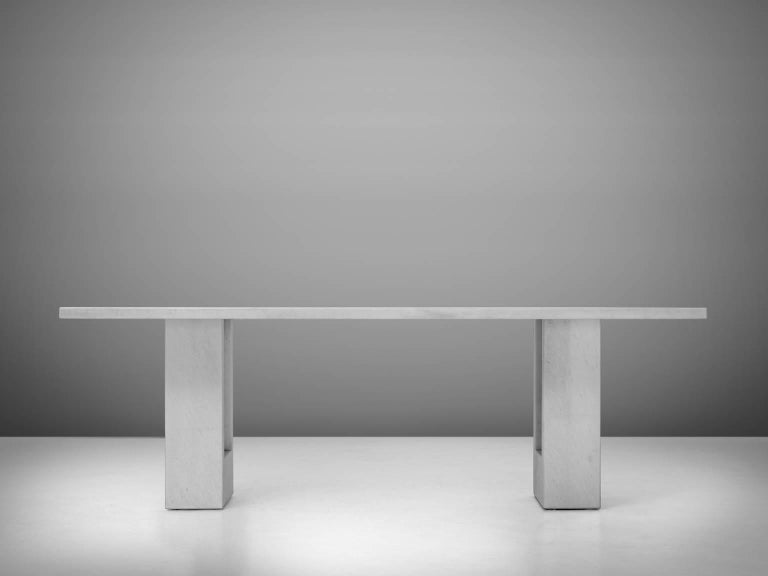 Mid-Century Modern Carlo Scarpa & Marcel Breuer 'Delfi' Table in Marble  For Sale