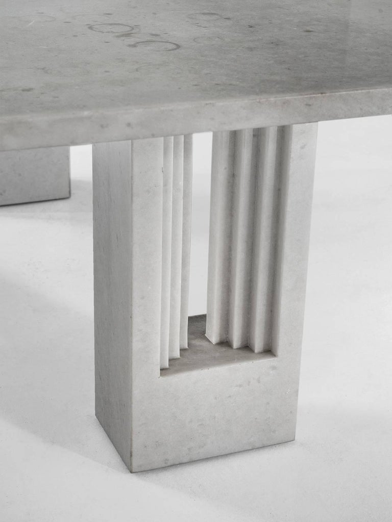 Late 20th Century Carlo Scarpa & Marcel Breuer 'Delfi' Table in Marble  For Sale
