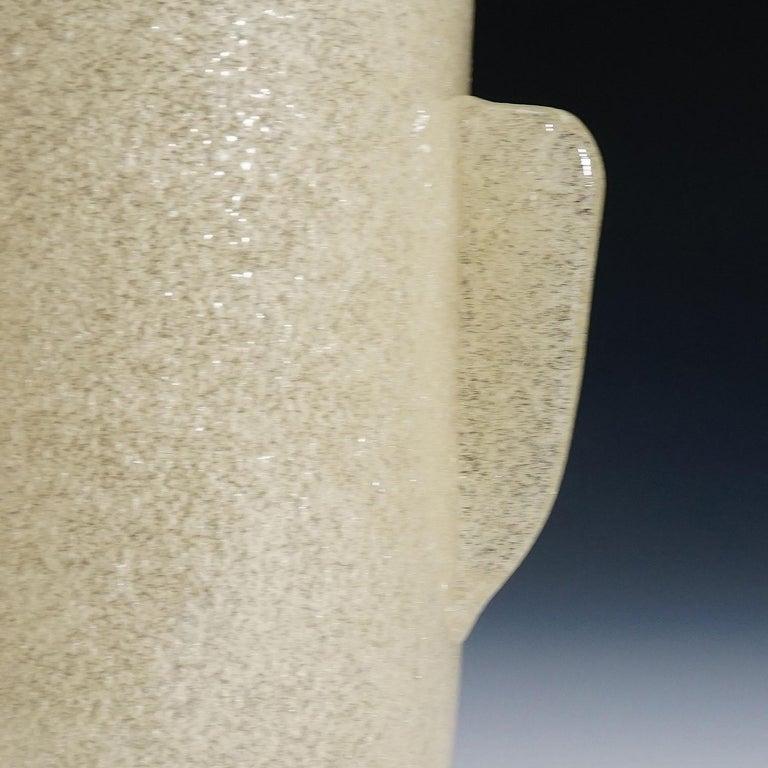 Mid-Century Modern Carlo Scarpa 'a Bollicine' Glass Vase for Venini, circa 1932 For Sale