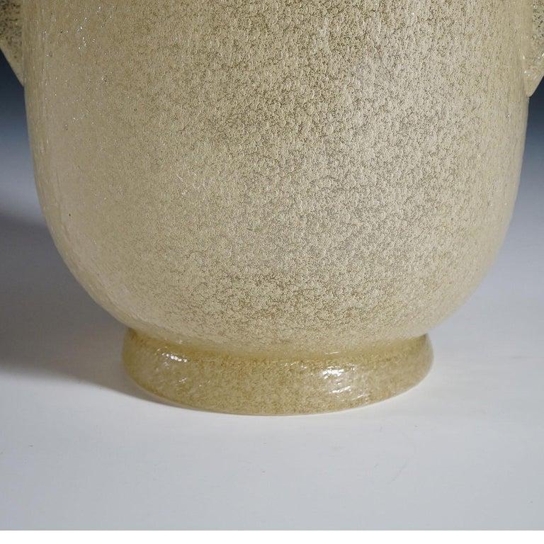 Carlo Scarpa 'a Bollicine' Glass Vase for Venini, circa 1932 In Good Condition For Sale In Berghuelen, DE