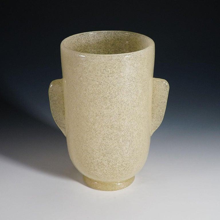 Art Glass Carlo Scarpa 'a Bollicine' Glass Vase for Venini, circa 1932 For Sale