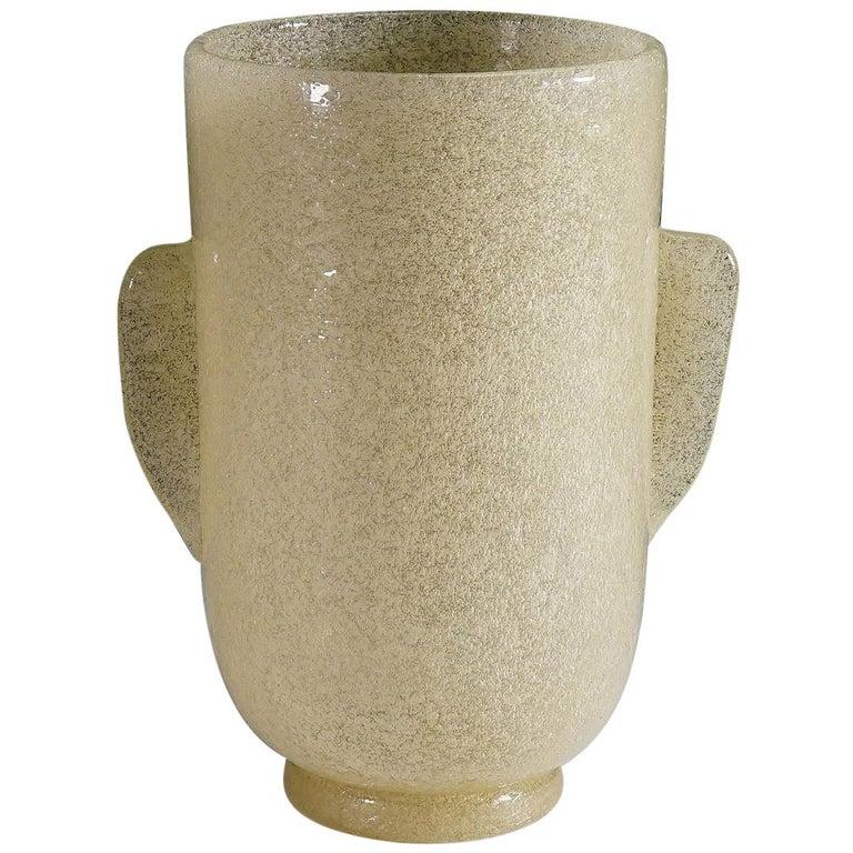 Carlo Scarpa 'a Bollicine' Glass Vase for Venini, circa 1932 For Sale