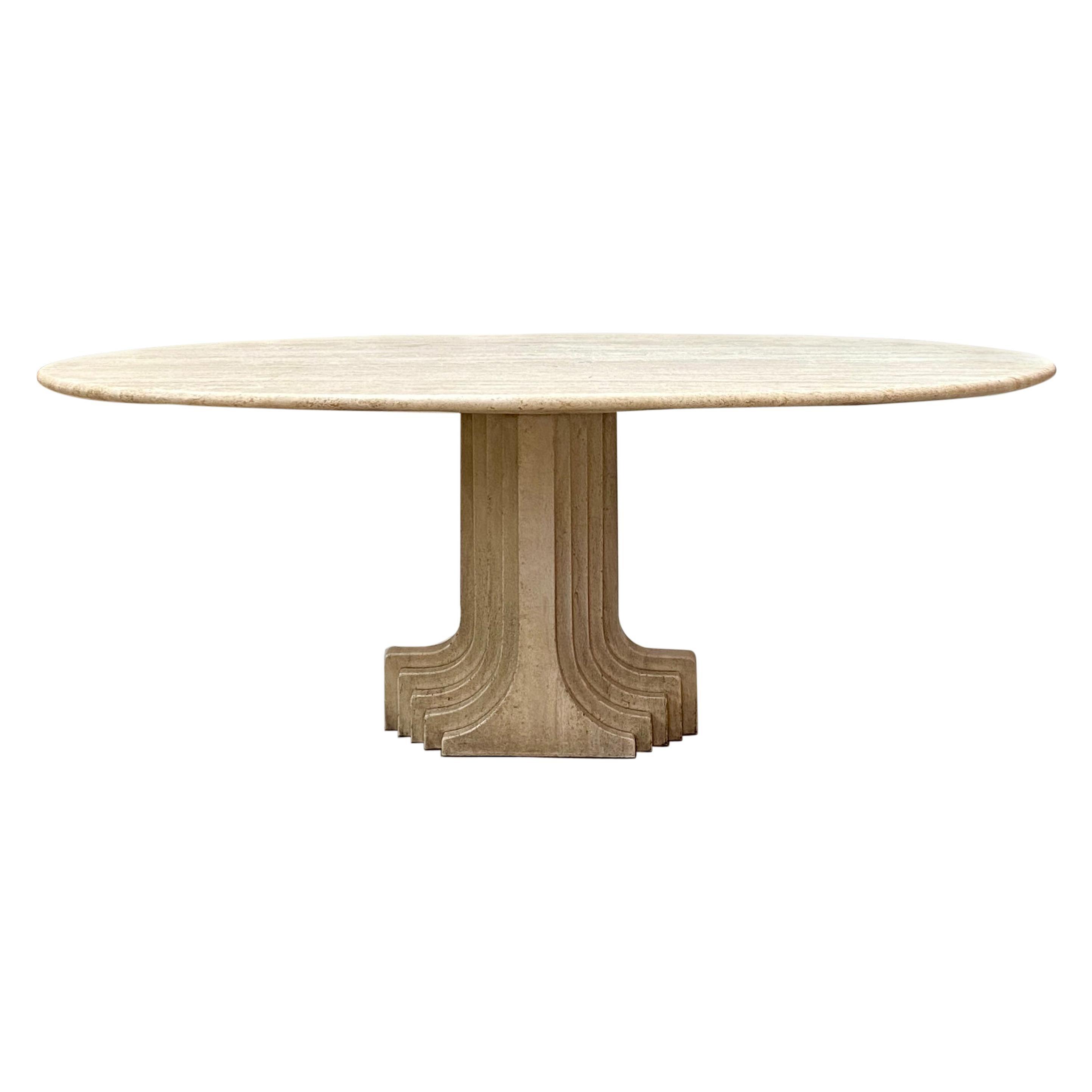 """Carlo Scarpa """"Argo"""" Oval Table for Simon, 1975"""