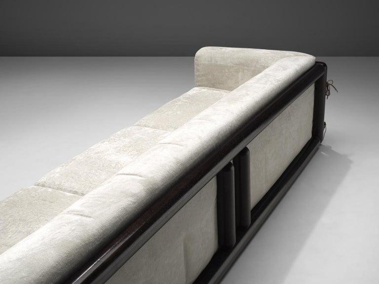 Late 20th Century Carlo Scarpa 'Cornaro' Sofa for Simon in White Velvet For Sale