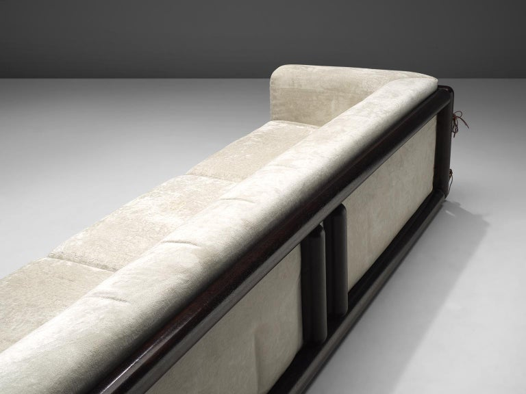 Late 20th Century Carlo Scarpa 'Cornaro' Sofa for Simon in White Velvet For Sale